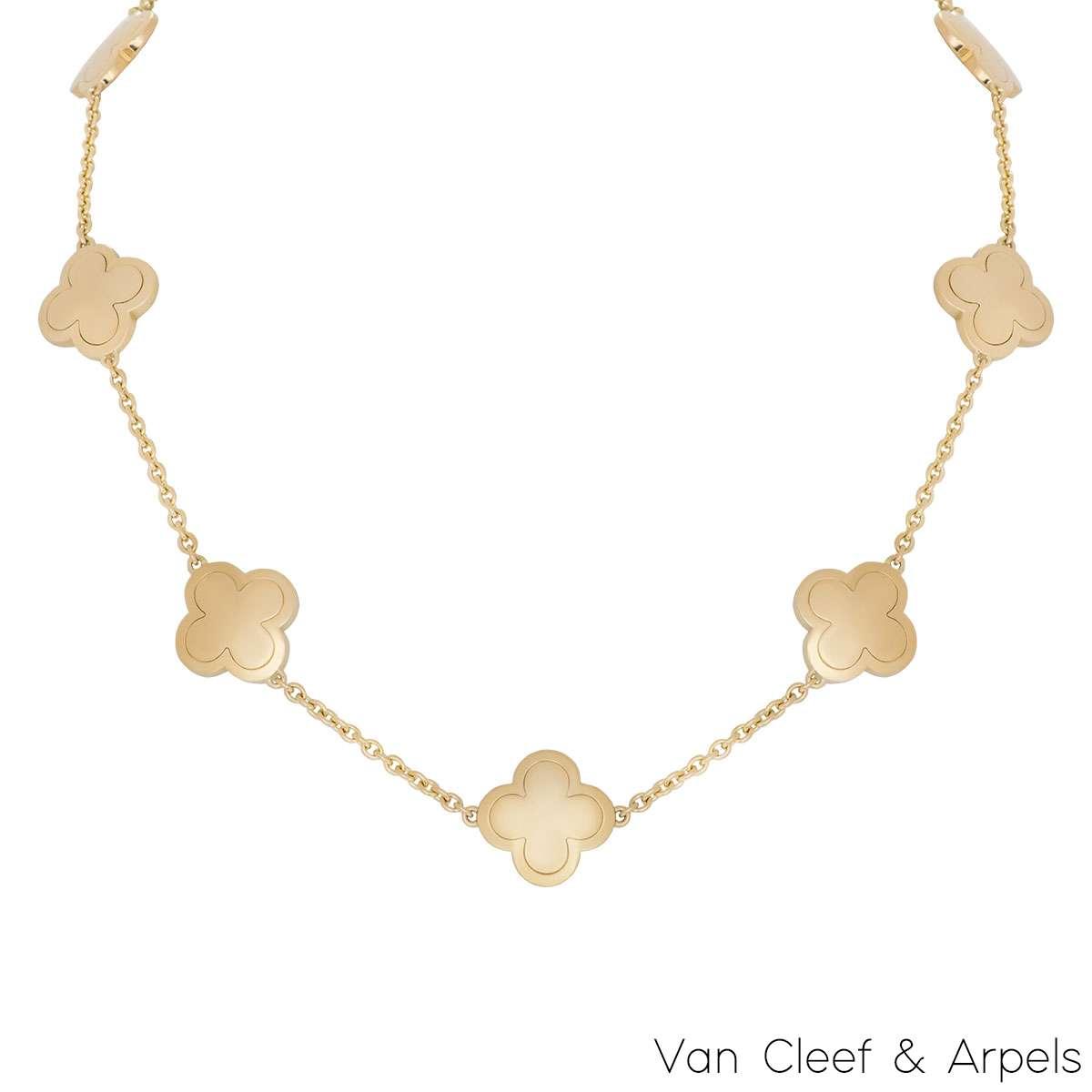 Van Cleef & Arpels Yellow Gold Alhambra Necklace